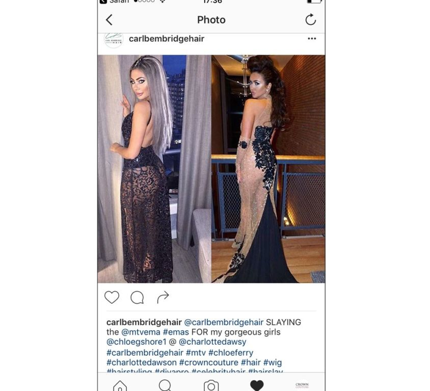 Carl Bembridge styles Chloe Ferry and Charlotte Dawson's hair