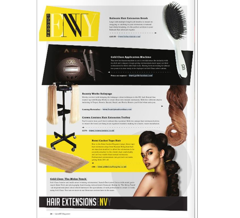 Salon NV Magazine features CrownCouture products