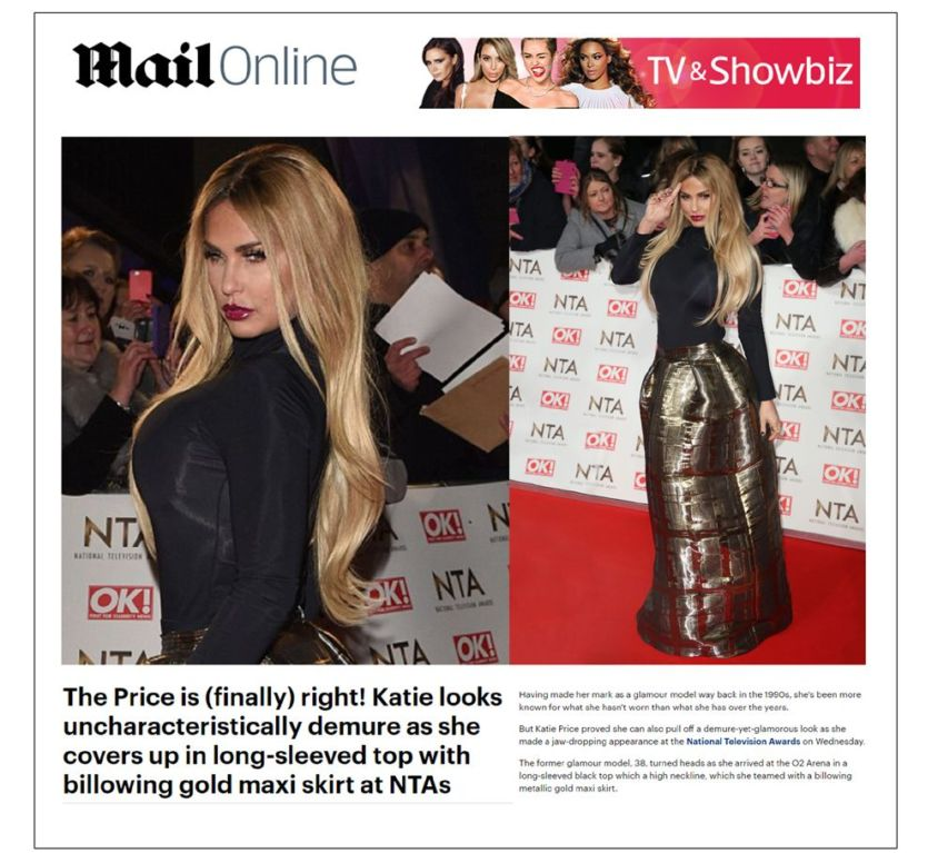 Katie Price wears CrownCouture hair