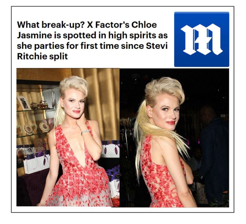X Factor Chloe Jasmine wears CrownCouture hair