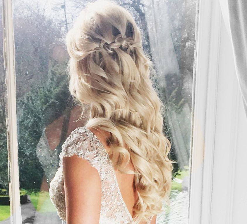 Bridal hair using CrownCouture hair extensions