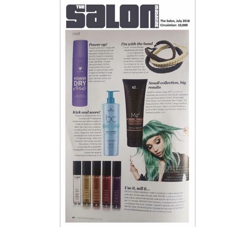 The Salon Magazine features CrownCouture products