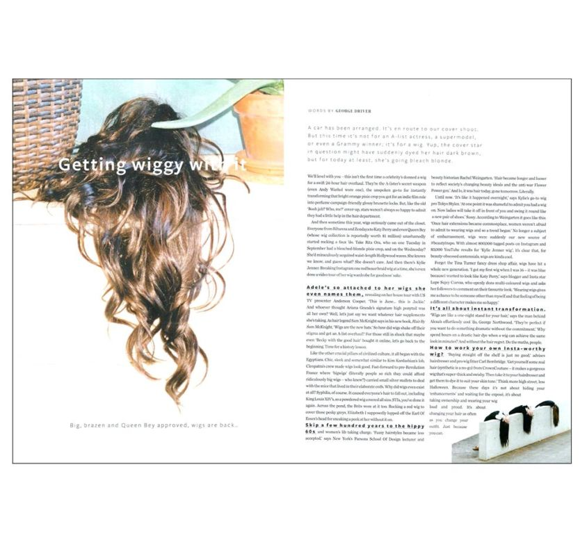 InStyle Magazine showcases CrownCouture hair