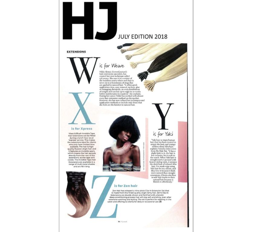 Hairdresser's Journal features CrownCouture products