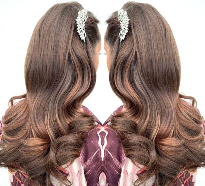Bridal hair using CrownCouture extensions
