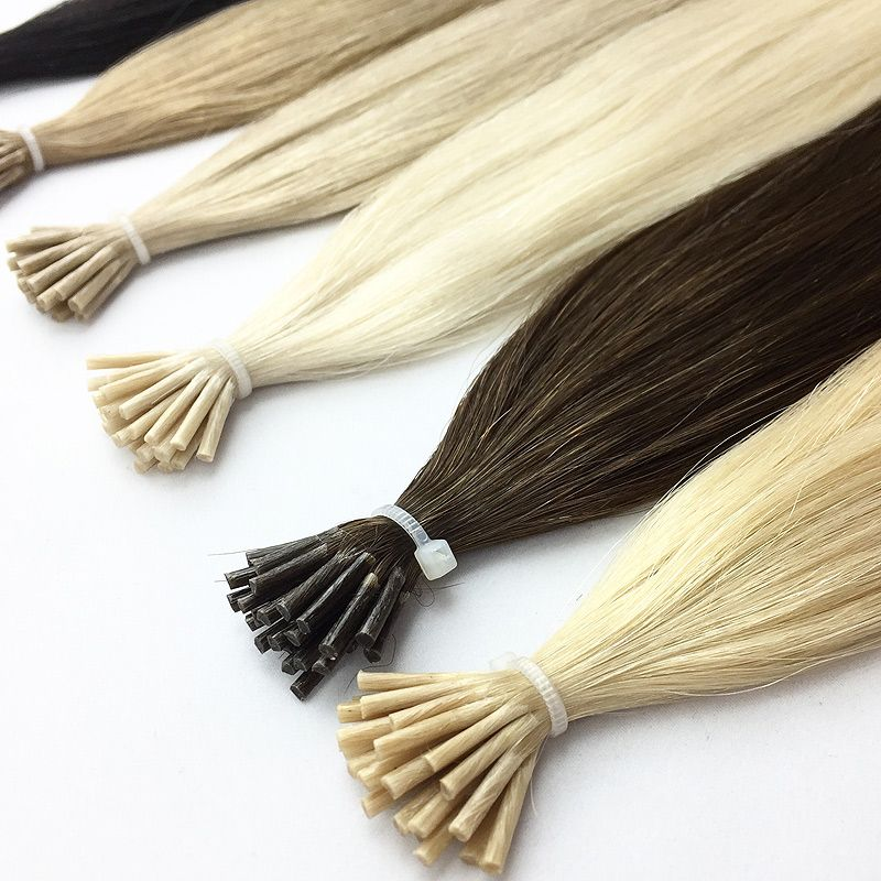 Russian Mongolian stick tip hair extensions
