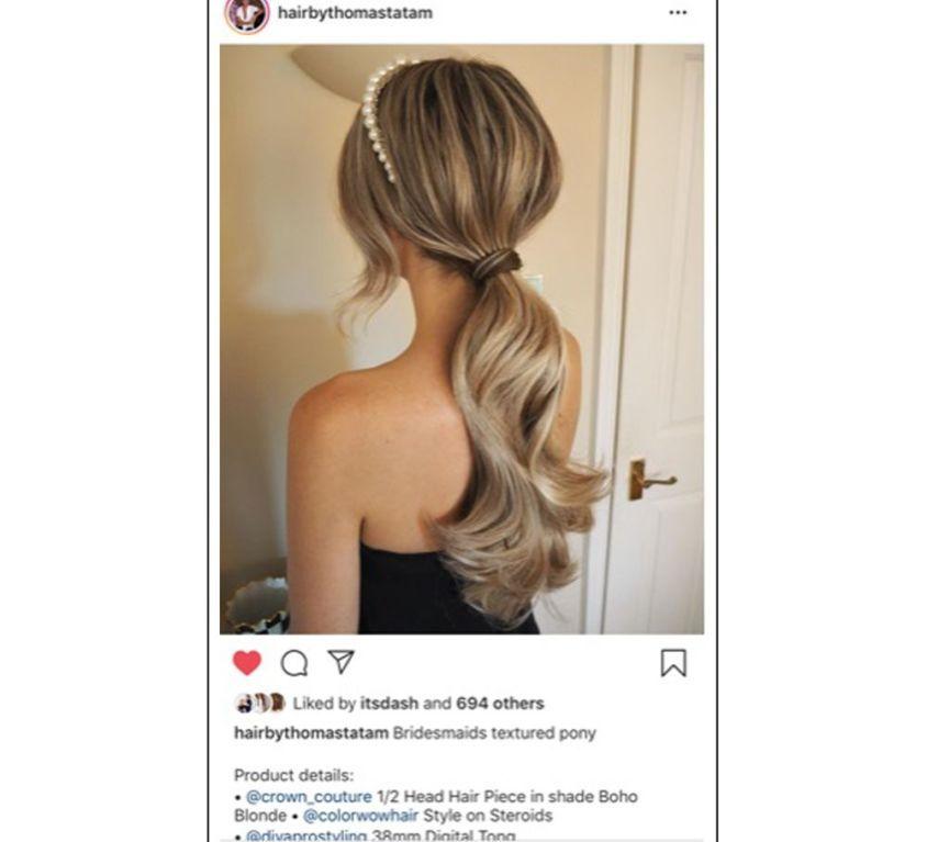 Celeb stylist Thomas Tatam bridal hair